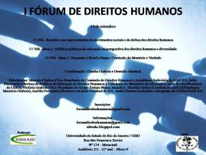 I Fórum de Direitos Humanos na UERJ